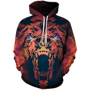 Hoodies Unisex Bear Animal Printed 3D Fashion Sweatshirt Pullover Fashion Causual Tracksuits $29.99 At Amazon