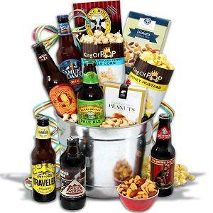 Microbrew Beer Bucket Gift Basket - 6 Beers at $69.99.