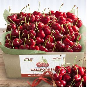 California Bing Cherries Gift Box 2.5 lbs $35.95.