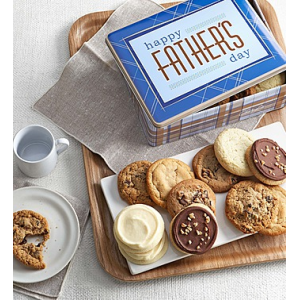 Father's Day Gift Tin Assorted Cookies at $34.99.