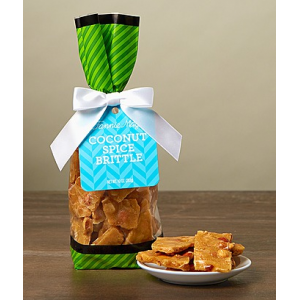Coconut Spice Brittle^ 10oz at $9.99.