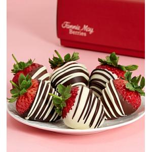 Full Half Dozen Decadent Chocolate Covered Strawberries at $29.99..