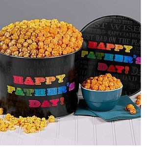 Say it in Color Father's Day Popcorn Tin $34.00.