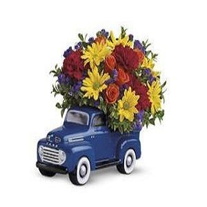 Teleflora's '48 Ford Pickup Bouquet - Deluxe $47.66.