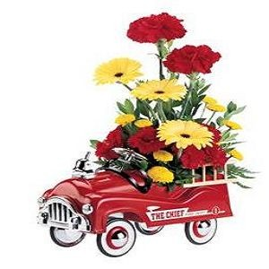 Teleflora's Fire Engine Bouquet - Deluxe $52.16 .