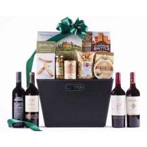 Executive Selection Cabernet Quartet Wine Gift Basket at $129.99.