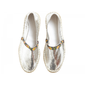 Silver Espadrilles at $59.