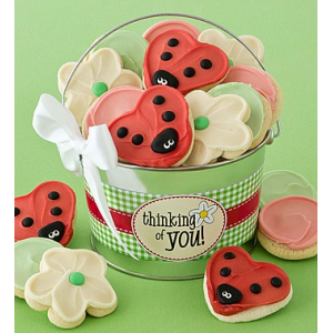 Thinking of You Frosted Cookie Pail at $36.99.
