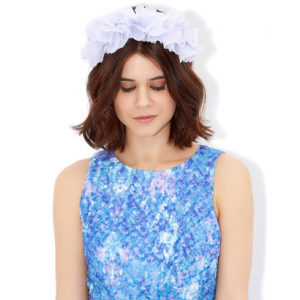 HERMIONE FLOWER BAND FASCINATOR AT $.12.50.