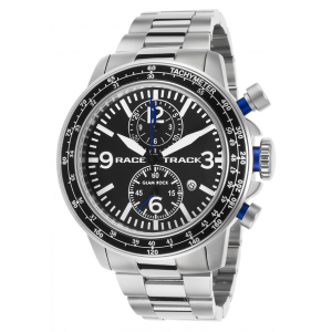 Glam Rock Men's Racetrack Chrono Stainless Steel Black Dial at  $159.99