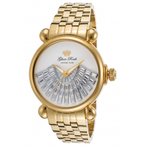 Women's Vintage Glam Gold-Tone Stainless Steel White Dial at $239.99