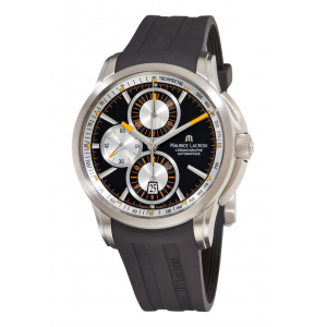 Get 69% off on Men's Automatic Chronograph Black Rubber and Dial