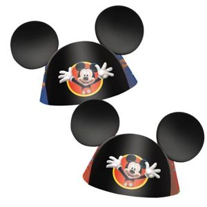 Mickey Mouse Party Hats (8 Pack) At $3.99