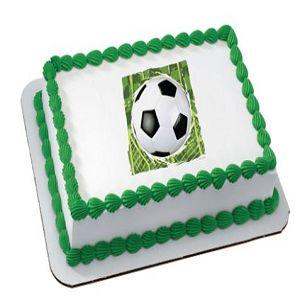 Soccer Quarter Sheet Edible Cake Topper (Each) At $9.99