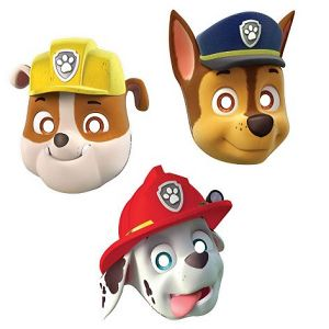 Paw Patrol Paper Mask Favors (8 Pack) At $3.99