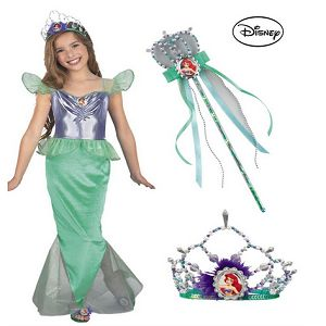 Ariel Little Mermaid Standard Child Complete Costume Kit - Small At $28.99