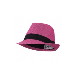 Pleated Hat Band Straw Fedora Hat at $18.49.
