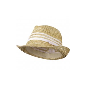 Wheat Braid Fedora Hat with Band at $17.49.