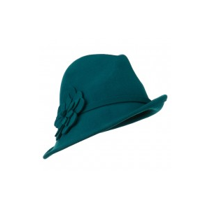Women's Wool Slanted Fedora at $43.49.