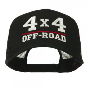 4 x 4 Off Road Embroidered Mesh Back Cap - Black at $16.49.