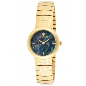 Women's Gold-Tone Stainless Steel Blue Dial at $64.99.