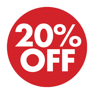 20% OFF DISCOUNT APPLIED TO ENTIRE SITE