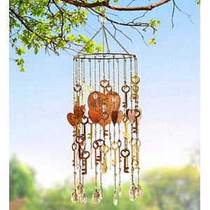 Vintage Key to My Heart Wind Chime at $44.99
