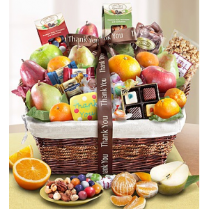 Thank You Fruit & Sweets Gift Basket for Employees at $79.99