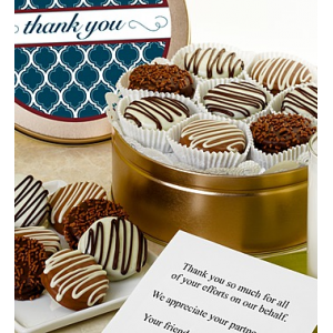 Thank You! Belgian Chocolate Covered Oreo? Tin at $39.99