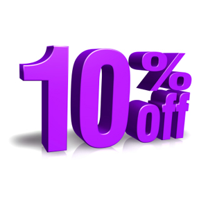 Get 10% off on Site wide