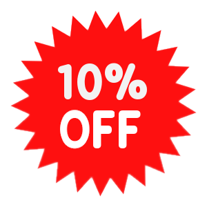 Get 10% off on any order.
