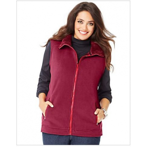 Microfleece Women's Myrtle Vest with Princess Seams and Zippered Pockets at $27.99