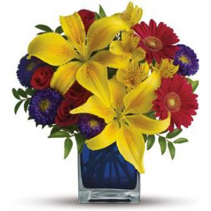 Blue Caribbean Bouquet Deluxe At $43.16
