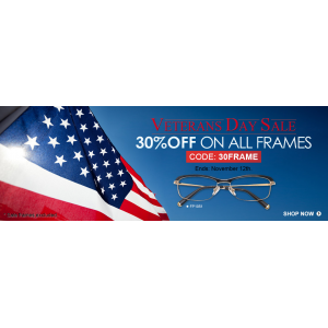 Veterans Day Sale : Flat 30% Off on All Frames