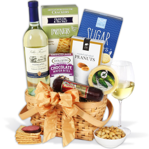Classic White Wine Gift Basket At $69.99