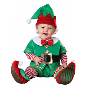 TODDLER SANTA'S LIL ELF INFANT COSTUME At $47.99