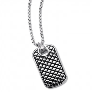 Men's Stainless Steel Dog Tag Necklace At $39.99
