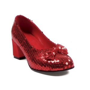 RED SEQUIN SHOES ADULT At $25.58