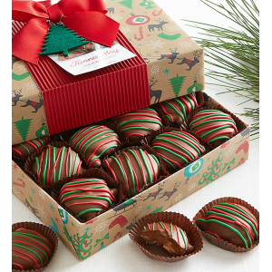 Holiday Milk Chocolate Pixies 1lb Holiday Joy Wrap At $24.99