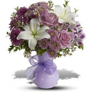 Precious In Purple Bouquet - Deluxe At $38.66