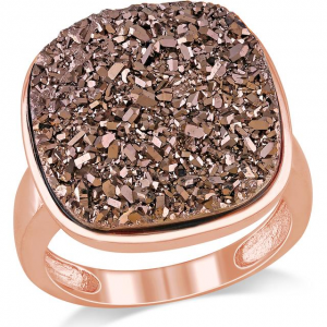 BROWN DRUSY STERLING SILVER RING At $54.00