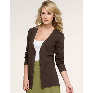 Women's Hanes Signature Stretch Cotton Cardigan At $14.99