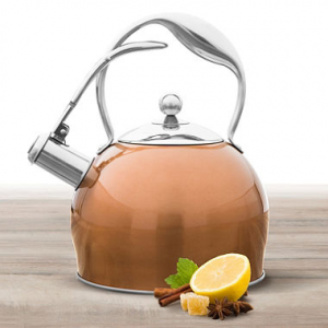 Wolfgang Puck 2.2-Quart Tea Kettle - Assorted Colors At $ 19.88