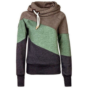 Color Block Long Sleeves Casual Hoodie For Women At $10.99