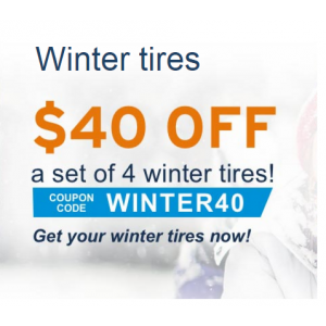 Flat $40 Off on Winter tires