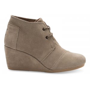 TAUPE SUEDE WOMEN'S DESERT WEDGES At $89.00