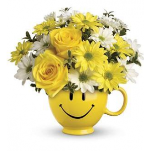 Teleflora's Be Happy Bouquet - Deluxe At $38.66