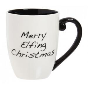 MERRY ELFING CHRISTMAS BLACK INK CUP O'JOE At $19.99