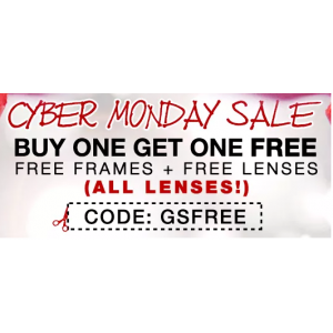 Cyber Monday Sale : Buy 1 Get 1 Free on Frames & Lenses