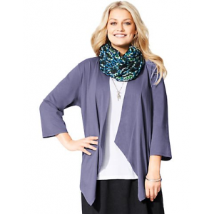 Just My Size 3/4-Sleeve Cotton Jersey Swing Cardigan At $20.99